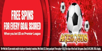 Get Free Spins For Every Goal Scored