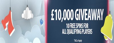 10 Free Spins & A £10K Giveaway